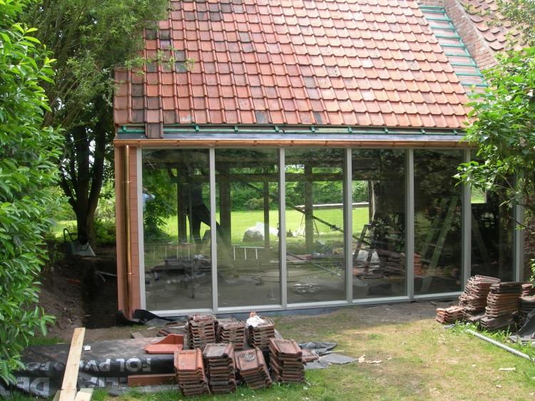 bijgebouw recreatie tuin realisaties heemeryck nv